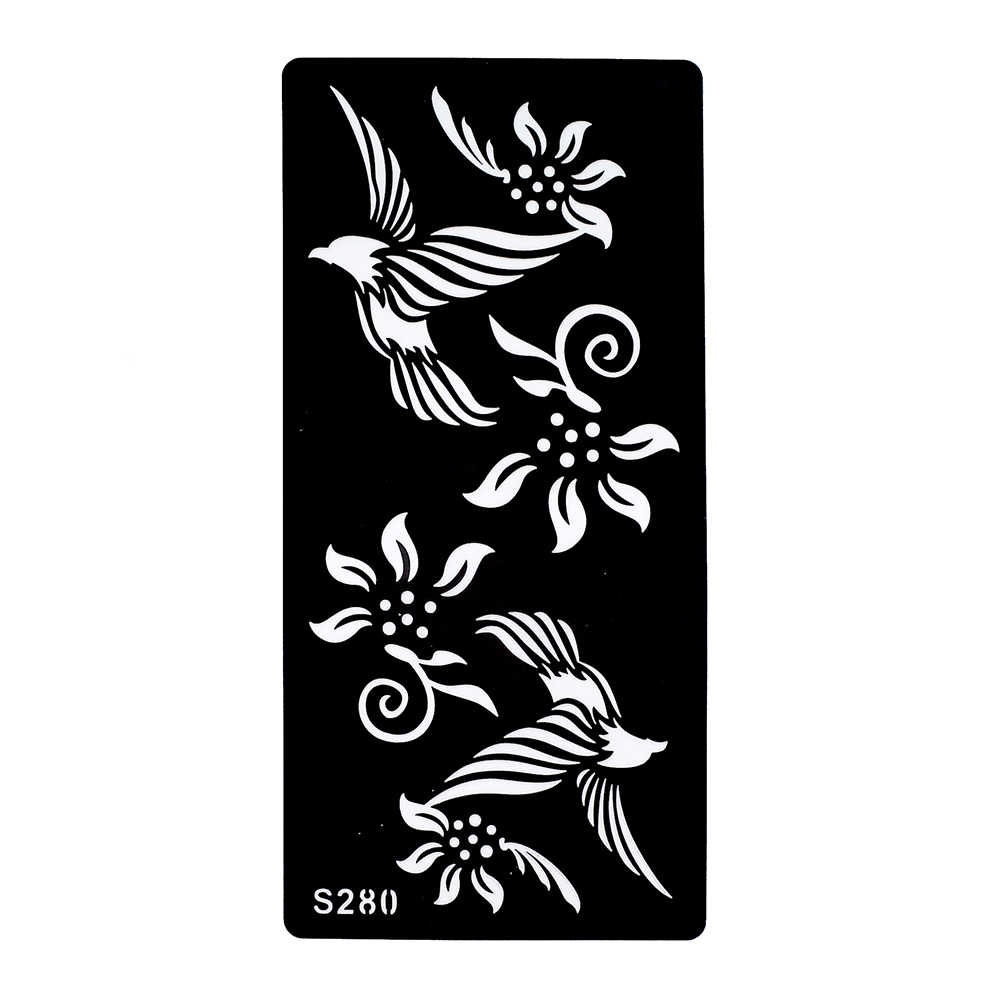 1 Piece Black Henna Tattoo Stencil Beauty Flower Eagle Airbrush Painting  Women Arm Art Indian Henna Tattoo Template Product S280
