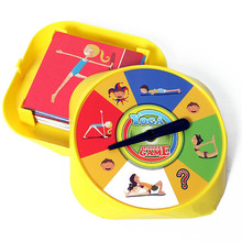 Fun Family Interactive Yoga Game of Flexibility Balance Sports Board Game Pose Cards Toys for Children Educational Gift chair joy stacked music puzzle game toy action fun family lucky balance gift for children s day piles up indoor activities