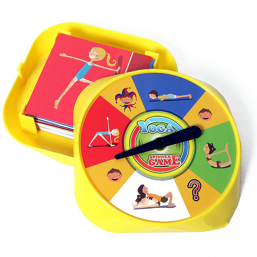Fun Family Interactive Yoga Game of Flexibility Balance Sports Board Game Pose Cards Toys for Children Educational Gift image
