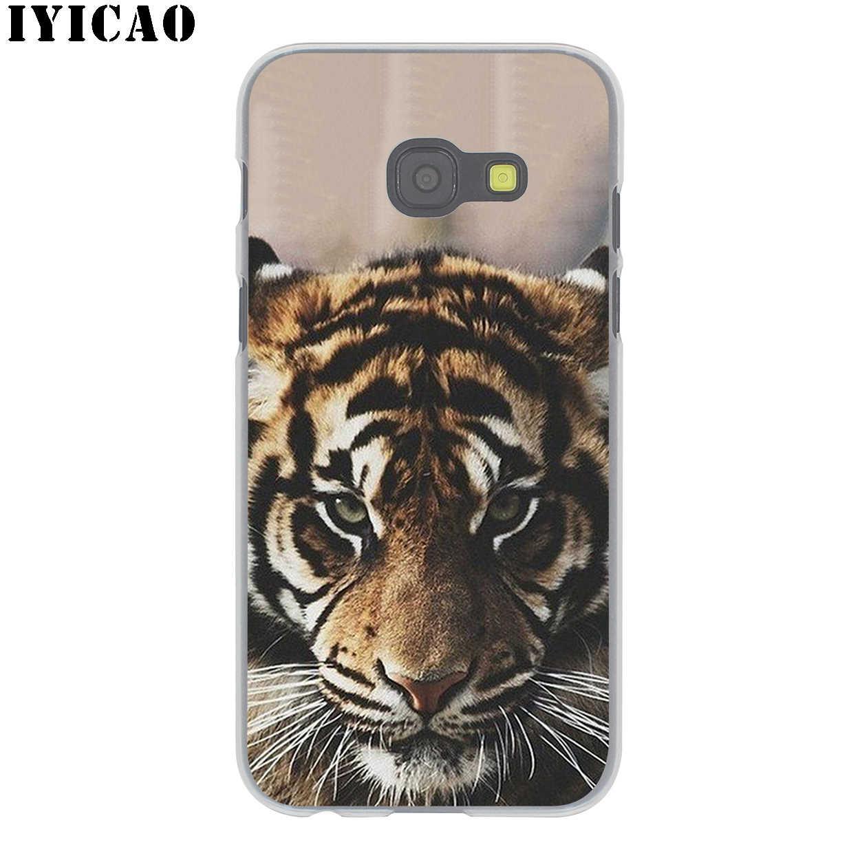 IYICAO loup tigre lion Léopard ours Dur étui pour samsung Galaxy J6 J5 J1 J2 J3 J7 2017 2016 2015 Premier J7 NOUS J5 UE Version