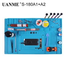 UANME Heat Insulation Silicone Pad Desk Mat Maintenance Platform for BGA Soldering Repair Work Station+Screw Parts Position цена