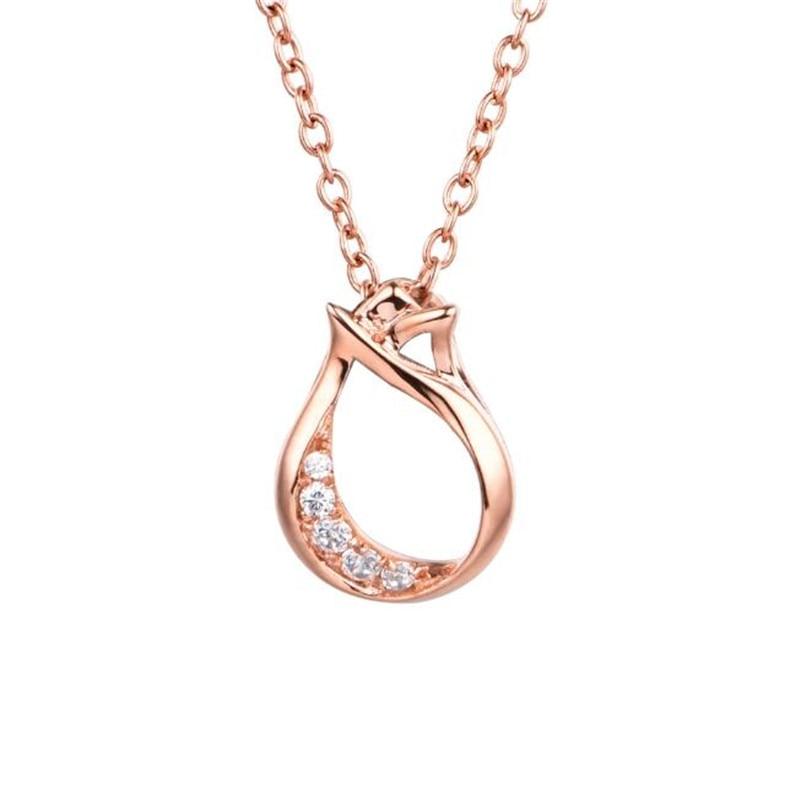 28f2fb6b35a8 Las mujeres elegantes de la alta calidad cristal flor tulipán Collares  Colgantes ol mujeres suéter cadena collar joyas accesorio 0.57g