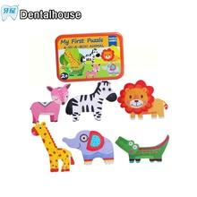 Мультфильм кролик переодеться деревянная игрушка Паззлы Монтессори платье изменение головоломки игрушки для детей девочка