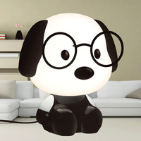 Super cute doctor dog table lamp cartoon wearing glasses puppy bedroom bedside lamp Valentine's day creative gift night light