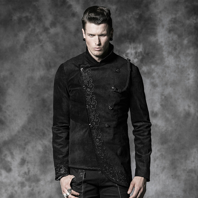 Mens black gothic jacket