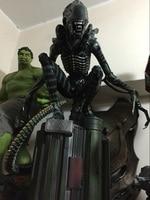 1:4 scale Alien vs Predator 60cm Felt a crouching like AVP Alien Warrior hand model furnishing articles