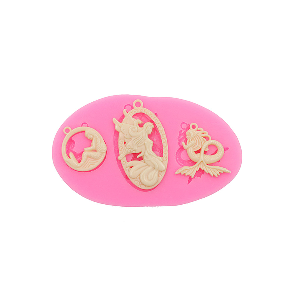 Hibye DIY Molds Material Pendants Etc Jellyfish Silicone Resin Jewelry Molds Material for Jewelry White