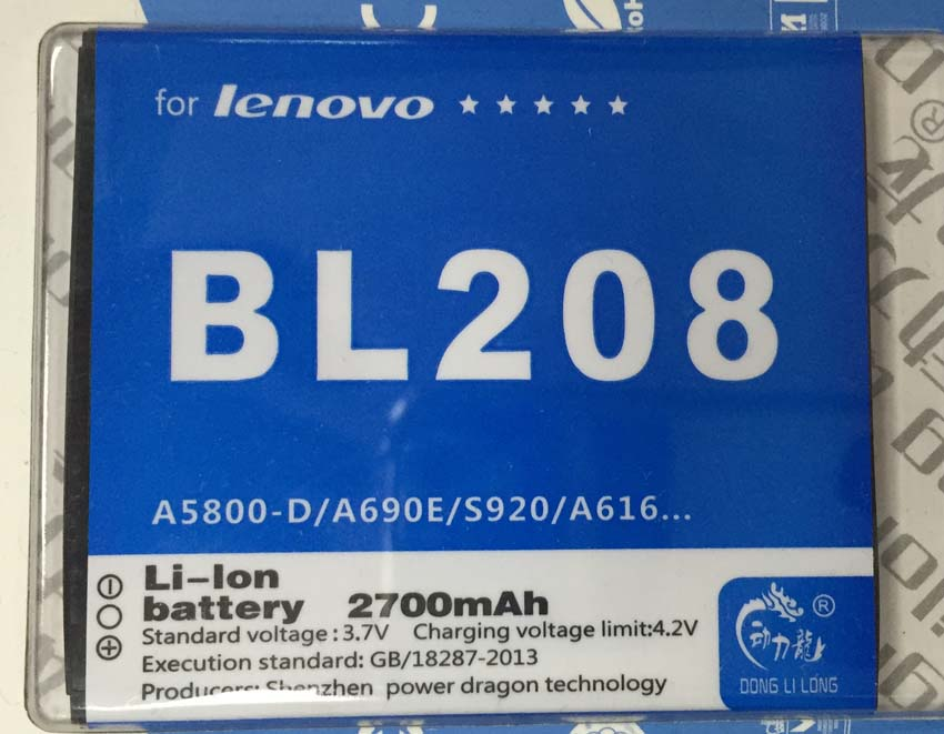 Battery BL208 2250mAh for <font><b>Lenovo</b></font> Smartphone S920 <font><b>A616</b></font> A690E BL 208 Battery High Quality Battery Donglilong image