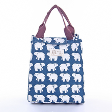 IUX Cute Animal whale Portable Insulated Canvas Lunch Bag Thermal Food Picnic For Women Kids Men Cooler Lunch Box Bag Tote