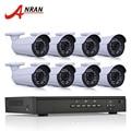 1080 P 2.0MP HD IR Al Aire Libre de Vigilancia de Seguridad IP POE Cámara de Correo Electrónico Plug And Play de alarma Onvif 8CH NVR Sistema Kit CCTV 3 TB HDD
