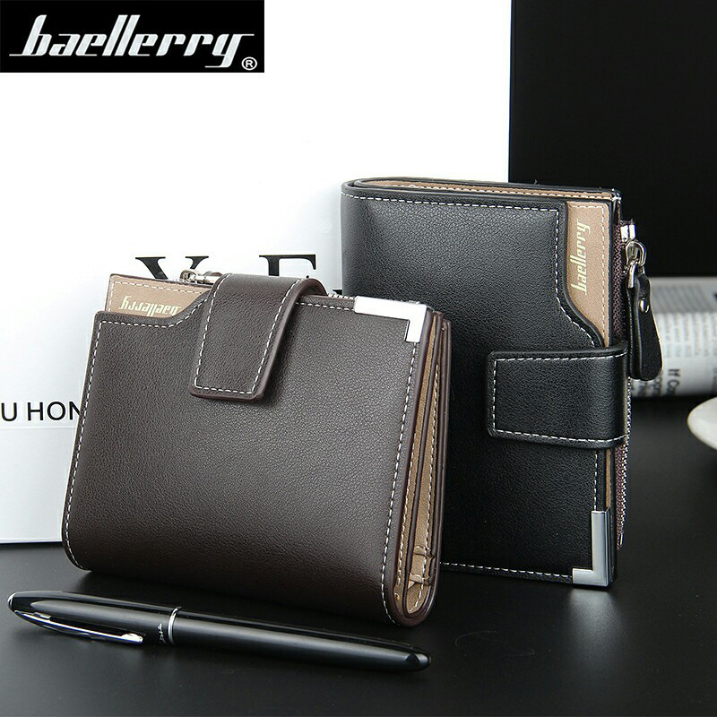7c3f95522cf668 Baellerry brand Wallet men leather men wallets purse short male clutch leather  wallet mens money bag quality guarantee-in Wallets from Luggage & Bags on  ...