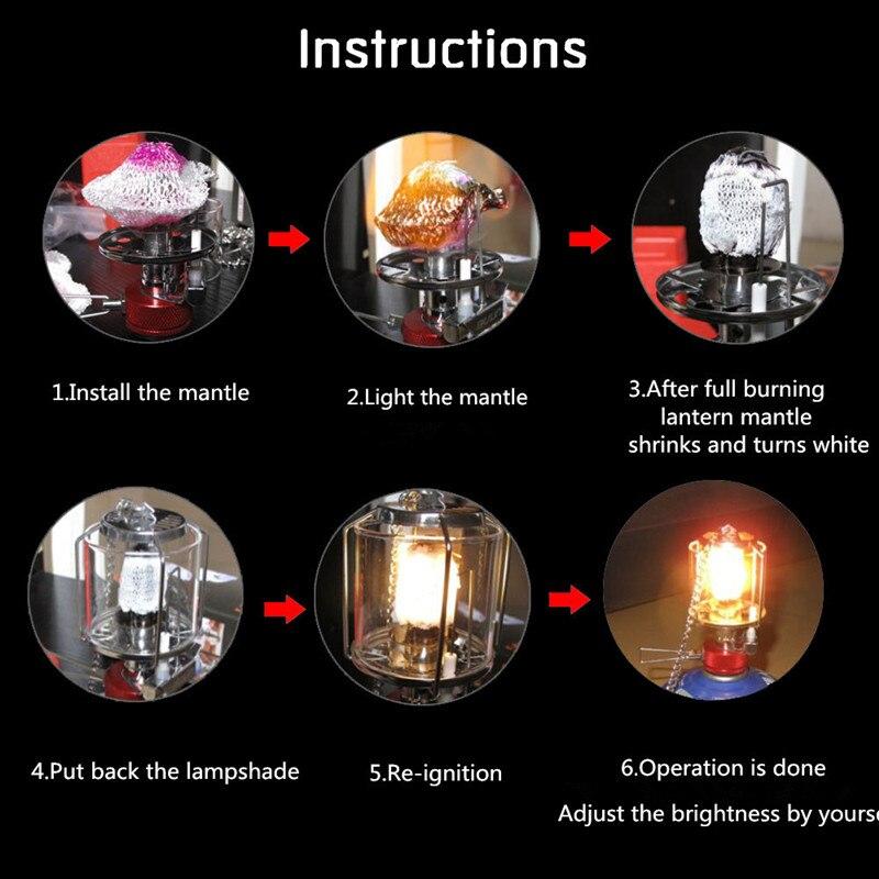30pcs Tie On Gas lantern Mantles Camping light Gas Mantle Lamp 500CP BIG SIZE