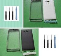 Volle Gehäuse Front Chassis Rahmen + Batterie Abdeckung Fall + Seite Taste für Sony Ericsson Xperia SP M35h C5302 C5303 + werkzeuge + Adhesive