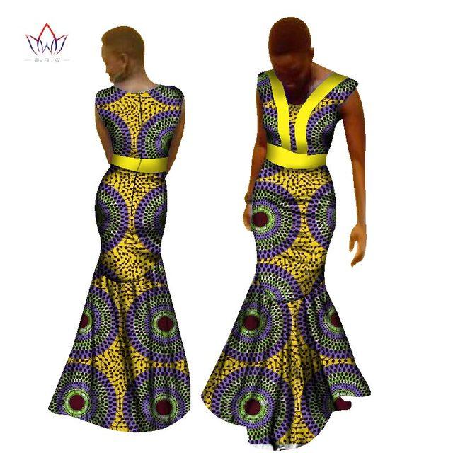 b13e2c727975e9 € 47.69 16% de réduction|2017 robes d'impression africaine pour femmes  Dashiki impression africaine Unique ethnique robe sirène grande taille ...