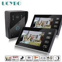 7 Wireless Video Intercom Wifi Vide Door Phone 2 Monitor Doorbell Camera Recording Doorphone Intercoms System
