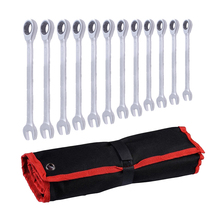 12pc 8-19mm  Ratchet Conbination Wrenches Set Spanners Combination Wrenches Set of Auto Repair Hand Tool for Cars Kit