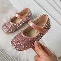 Mudipanda/золотистые туфли на плоской подошве для детей; Новинка осени 2019; обувь для девочек с блестками; обувь принцессы; детская повседневная о...