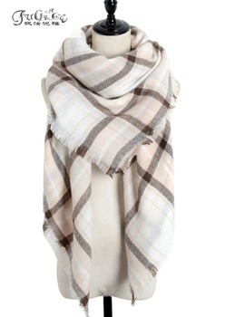 New scarf, plaid big shawl, the counter genuine winter Ms. without, warm thickening mantillas