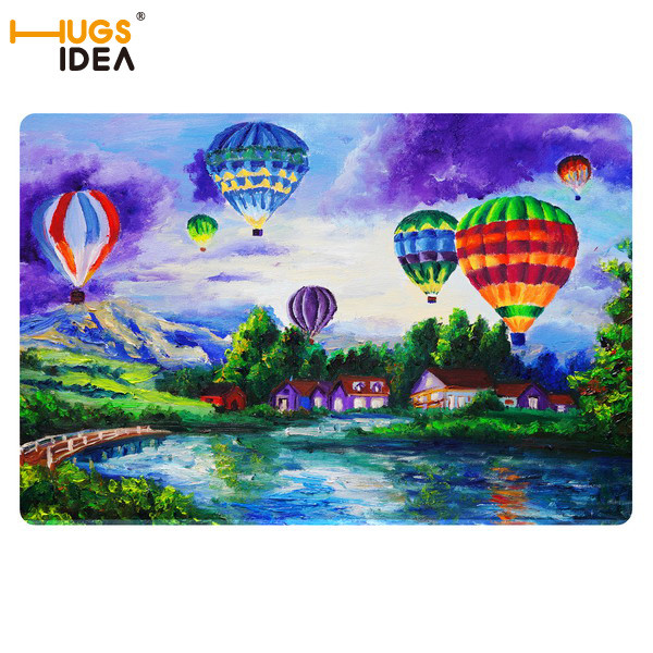 New Art Design Welcome Doormat 40*60cm 3D Painting Painted Carpet Fashion Door Bath Bedroom Living Room Mat Waterproof Floor Mat