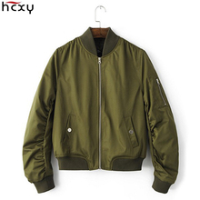 HCXY Brand Clothing 2016 New Arrival Bomer Jacket Women Girl Jackets And Coats Autumn Spring  Female Outerwear Cotton Short Slim