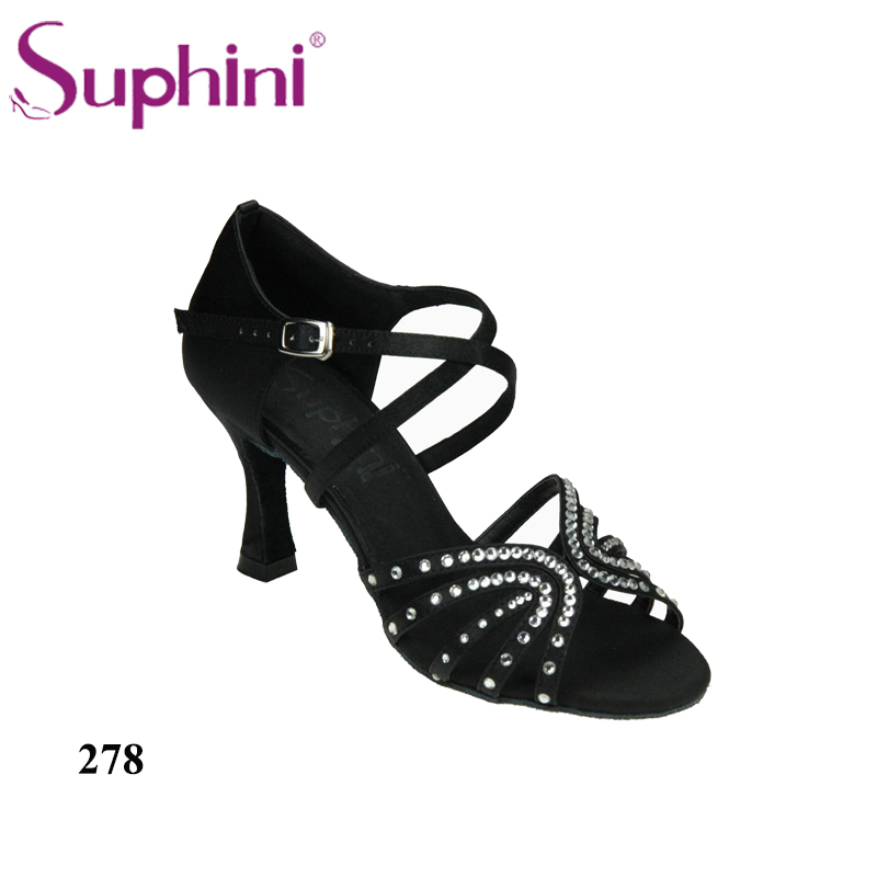 Free Shipping Suphini Professional Dance Shoes Popular Latin Shoes Woman Comfortable Latin Dance Shoes garcinia as preservative of chicken meat