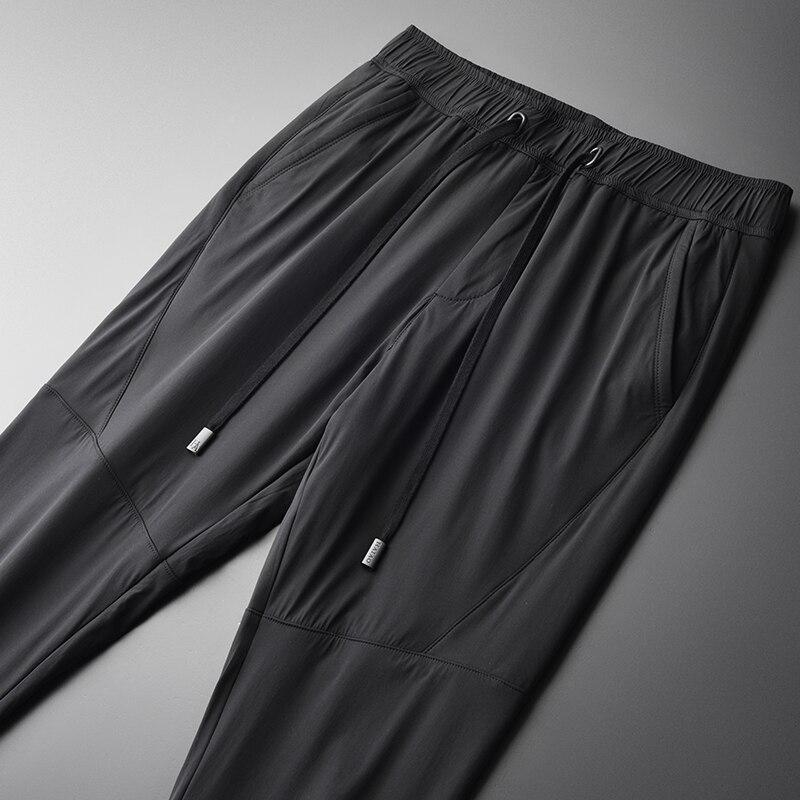 Luxe H Taille 4xl vent Épaississent Homme Tissu Sport Moulant Pantalon Slim k18160 Double Coupe Fit Décontracté De Minglu pont Hommes Grande Black gby7v6Yf