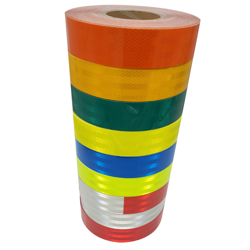 Reflective Strips 10 Rolls Lot 5CM 45M Safety Warning Sign Tape Body Stickers Wholesale PET Lattice