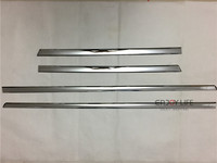 4pcs ABS Chrome Side Door Body Molding Cover Trim Strip Plate For Mercedes Benz GLE Class