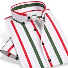 Colorful Stripe Short Sleeve Shirts