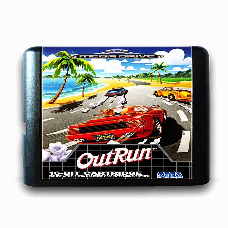 Outrun for 16 bit Sega MD Game Card for Mega Drive for Genesis Video Game Console PAL USA JAP
