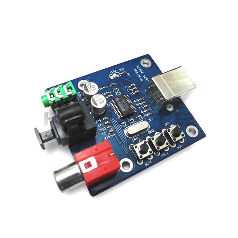 PCM2704 オーディオ DAC S/Pdif hifi DAC デコーダボード 3.5 ミリメートルアナログ同軸光ファイバ出力 A1-010