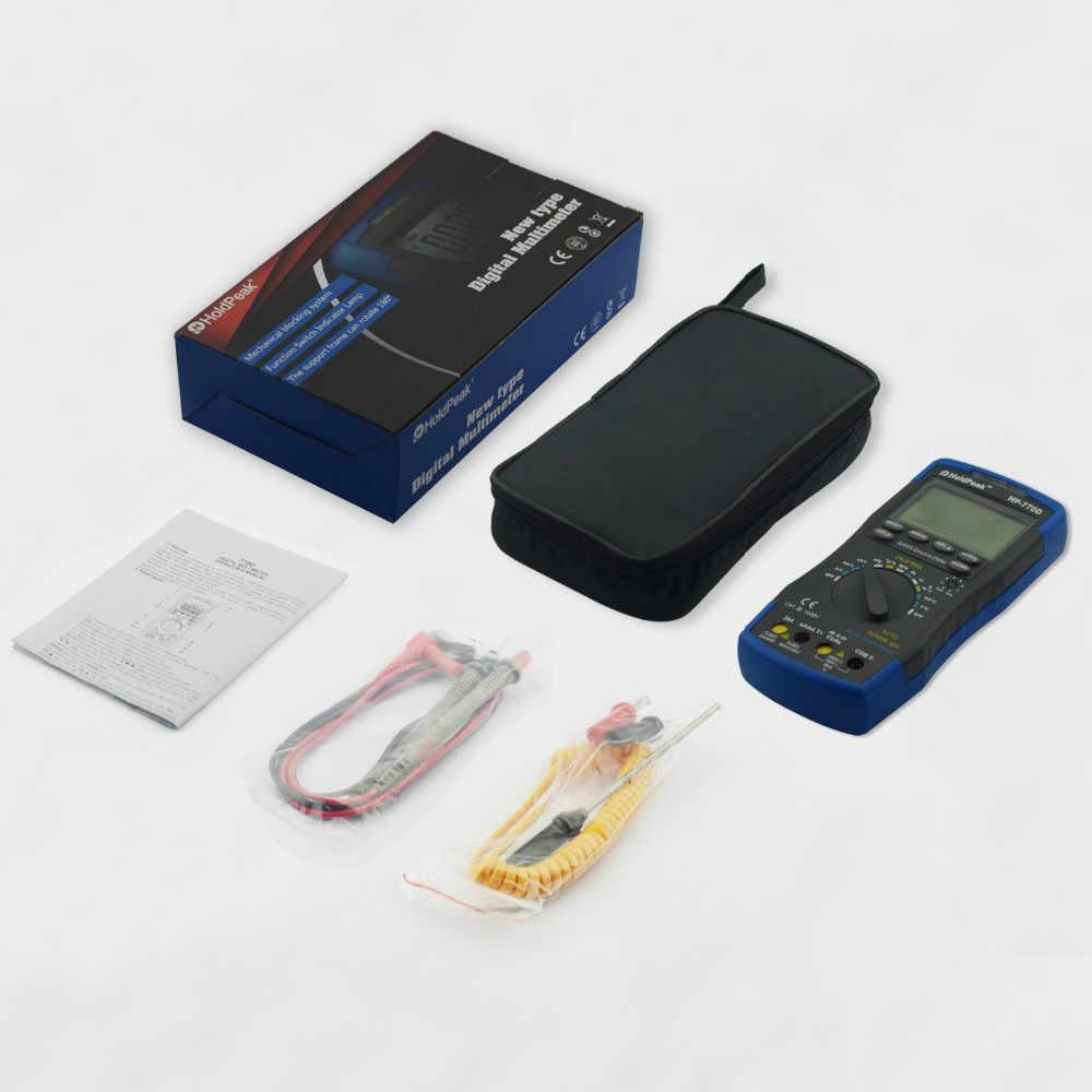 Цифровой мультиметр True RMS HP-770D Multimetro Авто Диапазон частот/Температура Тесты и сумка для переноски