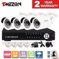 Tmezon IP POE 4CH NVR Система Видеонаблюдения 4*1080 P 2.0MP Пуля Сетевая камера ИК Ночного Видения ONVIF P2P 1 ТБ 2 ТБ Набор