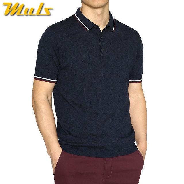 d64288cb8d Mens polo blusas estilo coringa algodão acrílico malha curto masculino polo  top tees muls macio respirável