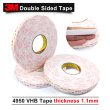 3 м двусторонняя акриловая, Vhb пены кран 4950 Vhb лента para металла, espesor 1,1 мм Толщина 10-30 мм