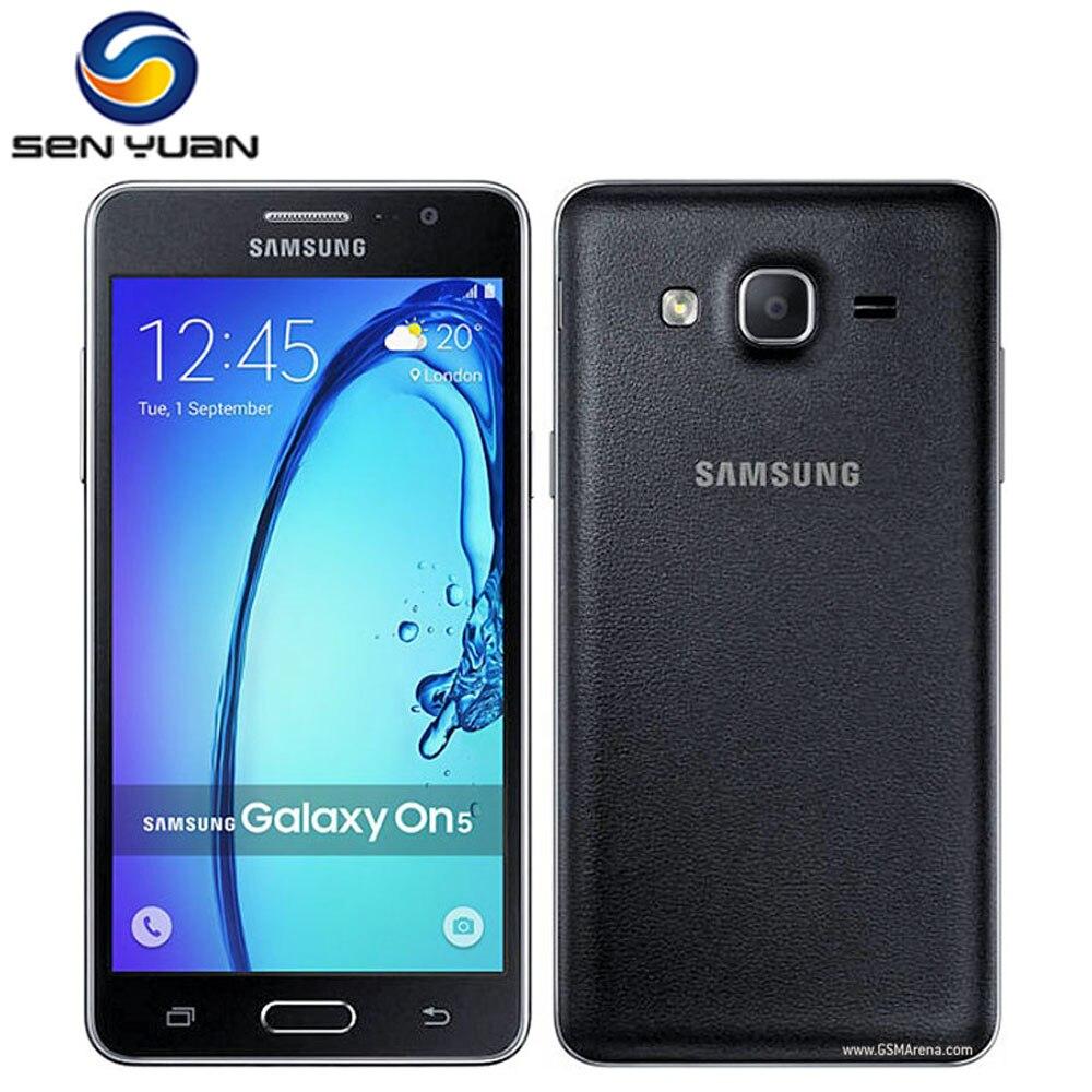 Оригинал, Samsung Galaxy On5 G5500 4 аппарат не привязан к оператору сотовой связи мобильный телефон разблокированый 1,5 ГБ + 8 Гб Quad core Dual Sim 5,0