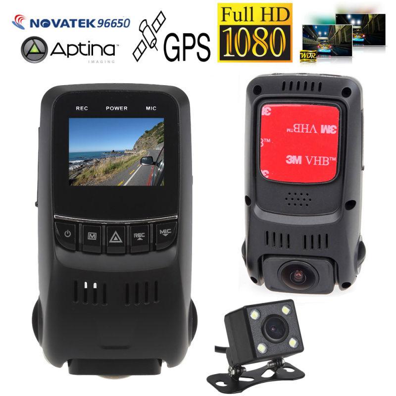 B40D Dual Lens Super Capacitor HD 1080p Car Dash Board Camera Video Register GPS gps навигатор lexand sa5 hd