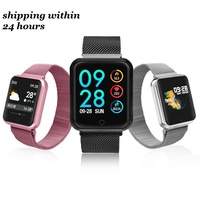 P68 Smart Watch Men Women Blood Pressure Blood Oxygen Heart Rate Monitor Sports Tracker Smartwatch item describe have stock link