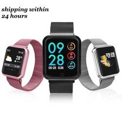 P68 Smart Watch Pria Wanita 2019 Tekanan Darah Darah Oksigen Monitor Detak Jantung Olahraga Tracker Smartwatch IP68 Menghubungkan Ios Android