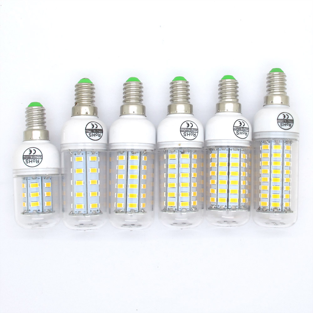 Bombillas E14 LED 9W 12W 15W 20W 25W 30W SMD5730 Lamp Light AC 220V 230V 5730 Corn Bulb Christmas Chandelier Lights & Lighting