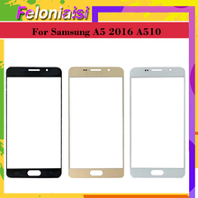 цена на 10Pcs/lot For Samsung Galaxy A5 2016 A510 SM-A510F A510F Touch Screen Front Glass Panel TouchScreen Outer Glass Lens NO LCD