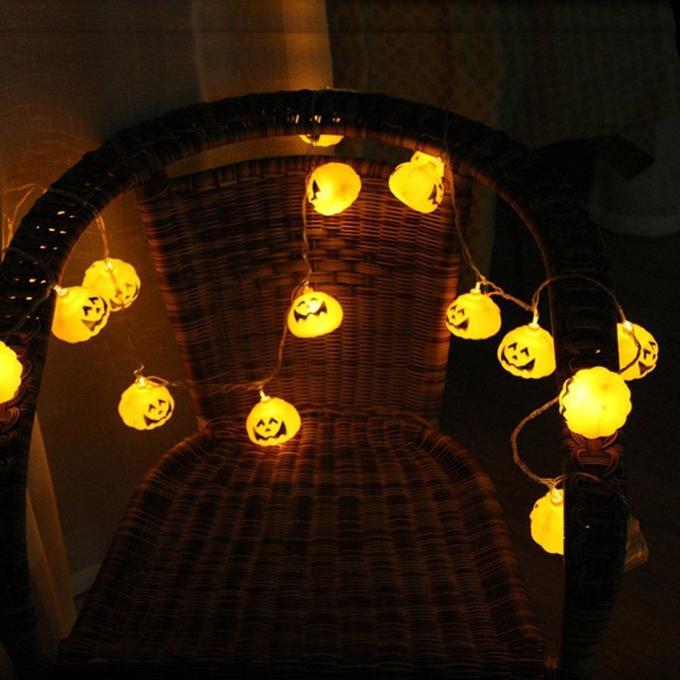 pumpkin halloween light outdoor decor string lights 10 20 led