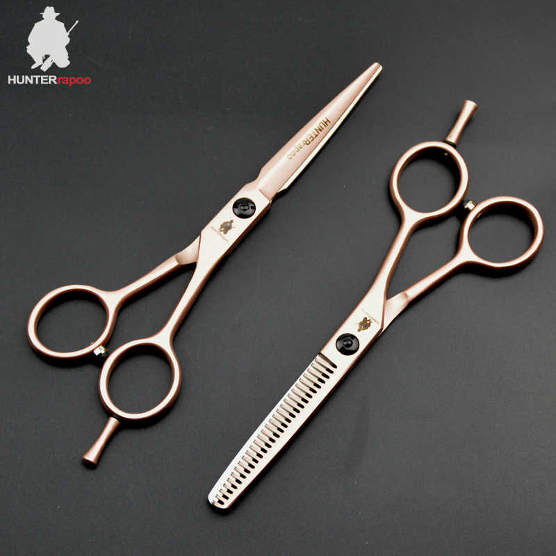 30% OFF HT9132 5.5 inch Professional Hair Cutting Scissors Set For Hairdressing salons Thinning Shear Haircut Trimmer Clipper