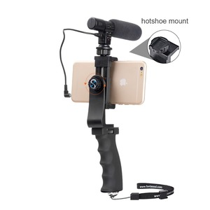 Image 3 - Mini Smartphone Hand Grip Holder Mobile Phone Stabilizer Clip Selfie Stick Clamp Adapter for iPhone 11 XS MAX XR Samsung S10