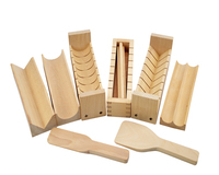 DIY Japanese Beech Wooden Sushi Maker Rice Mold Set Sushi Mould Kitchen Sushi Rice Making Tool High Quality Eco friendly 10pcs
