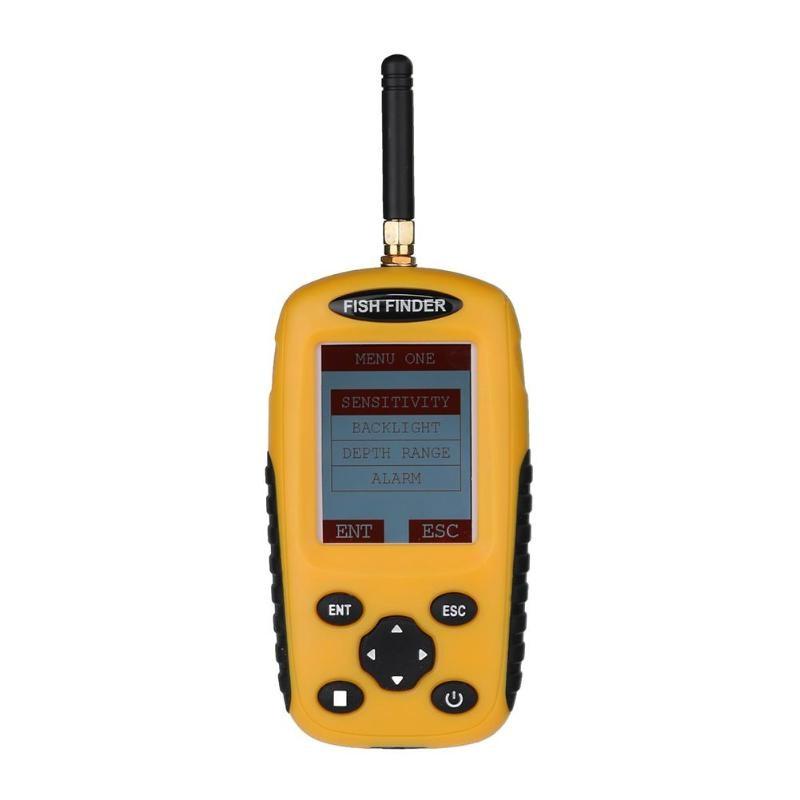 2.4 inch Portable Fish Finder TFT Color Wireless  Sounder Alarm Transducer Fishfinder 0.6-40m fishing echo sounder