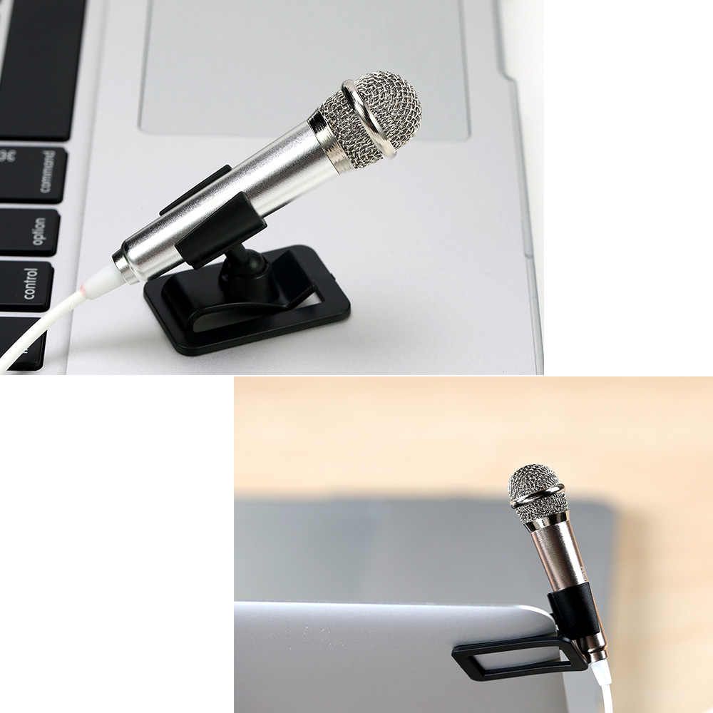 Remax Mini portable Sing Song Karaoke 3 5mm Microphones speaker with holder  For PC Laptop Singing KTV Cell Phone Stereo Studio