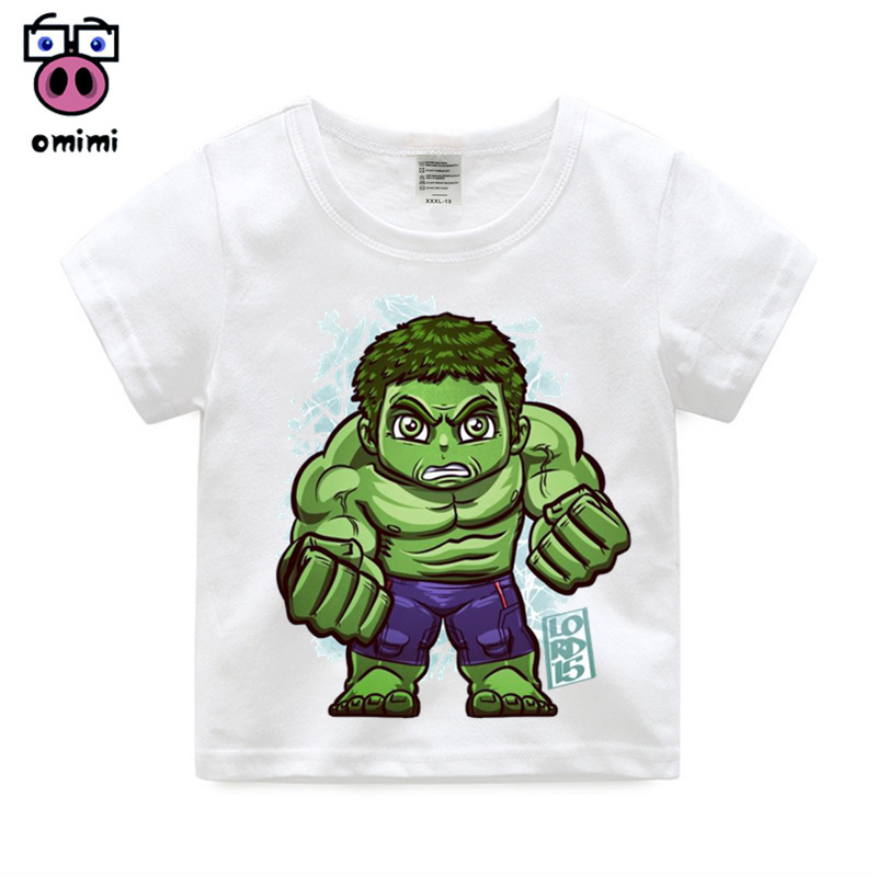 Aliexpresscom Buy Boy Girl The Avengers Hulk Cartoon Print T
