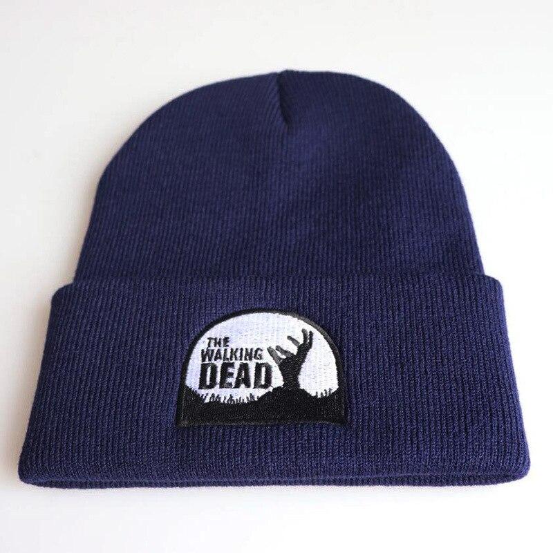 The walking death autumn MEOW Cap Men Women Casual Hip Hop Hats Knitted   Skullies     Beanies   Hat Warm Winter Hat For Women   Beanie