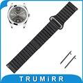 18mm 20mm 22mm genuína pulseira de couro para relógio rolex banda alça de liberação rápida cinto de fivela magnética de pulso pulseira